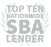 TOP TEN NATIONWIDE SBA LENDER